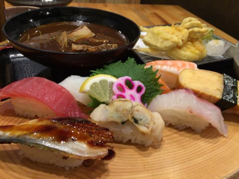海鮮れすとらん 魚輝水産 新大阪店の日替り串天ランチ
