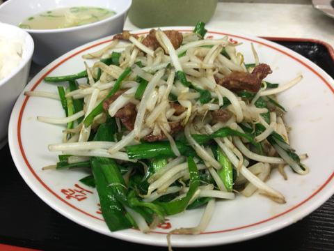 味悟空 三国店のニラレバ定食