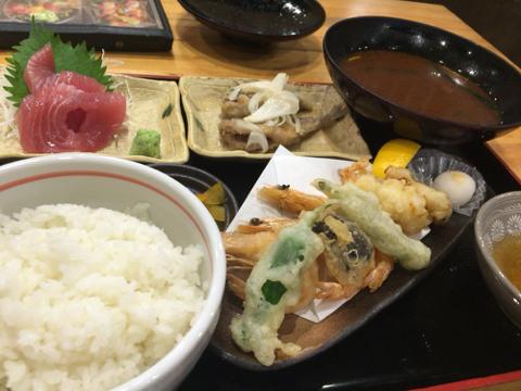 海鮮れすとらん 魚輝水産 新大阪店の満腹定食
