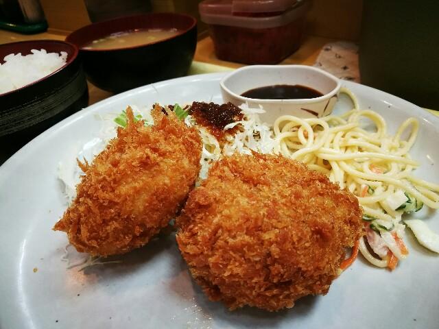 カレーハウス五番館 新大阪店のダブルコロッケ定食