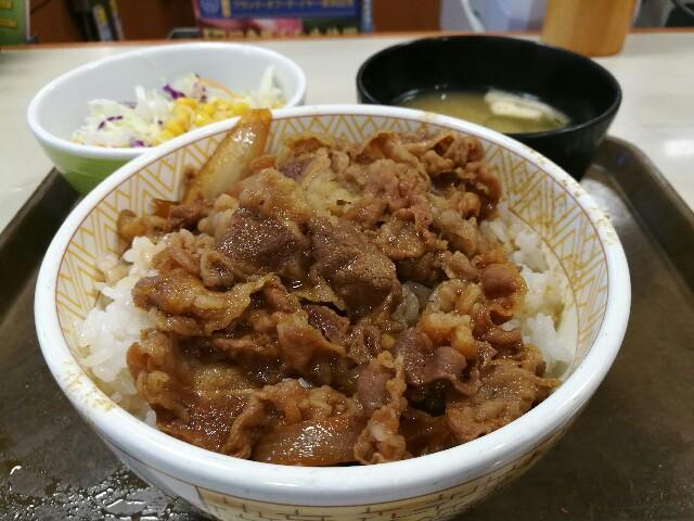 すき家 新大阪西宮原店の牛丼