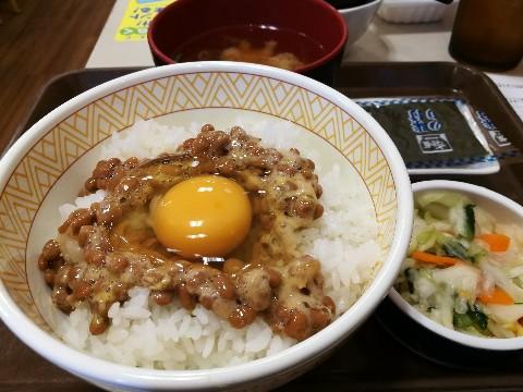 すき家 新大阪店の豚汁納豆定食